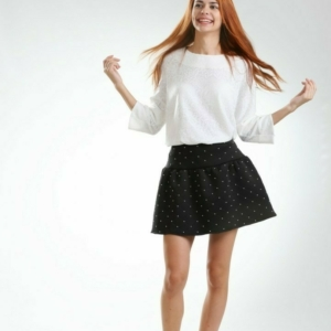 mini Skirt Canne with faux Pearls beads embellishments