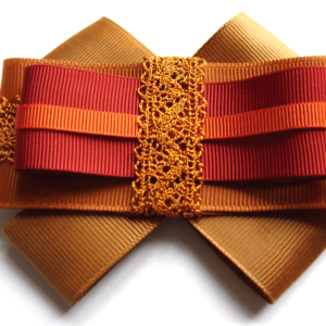 Grosgrain bow brooch in Brown-Orange-Bordeaux ACC_10_color_03_brooch_00