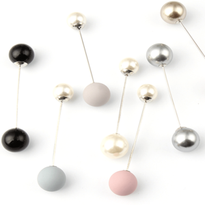 Double head pearl pin brooch buy online Axelles Fashion market