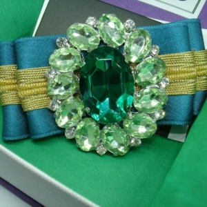 Stylish Jewel bow Brooch in Dark Turquoise ACC_17B_color_01_brooch_03