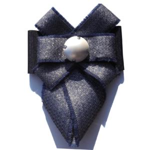 dark blue cloth tie brooch ACC_08C_color_01_brooch_01
