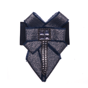 dark blue cloth tie brooch ACC_08C_color_01_brooch_04