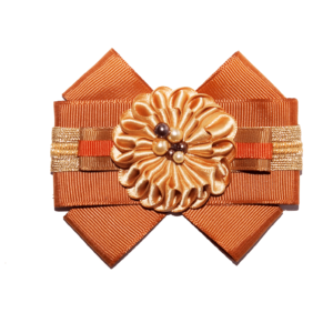 dark orange-gold grosgrain bow brooch ACC_10_color_02_brooch_02