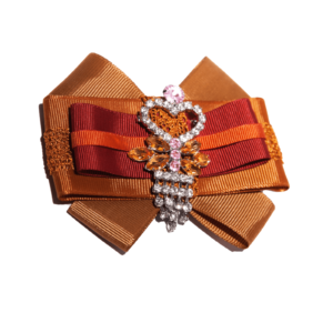 Grosgrain bow brooch in Brown-Orange-Bordeaux ACC_10_color_03_brooch_03