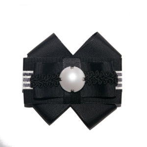 Pearl Black & White Bow Brooch ACC_07_color_01_brooch_01