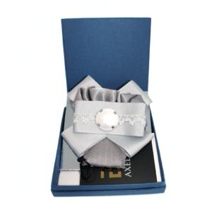 Silver Gray Tie & Bow cloth brooch_ACC_04C_color_01_brooch_01