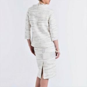 styled designer white-black stripped top,skirt,suit Laurel buy online axelles article B-2017-0010_01