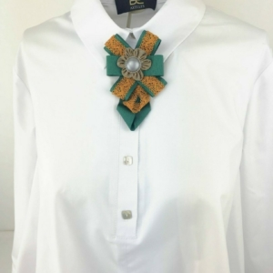 Neck tie bow shirt blouse brooche by axelles