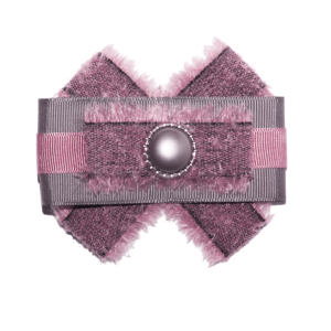 Frayed Fashion Bow Brooch in Gray-Dahlia ACC_14_color_01_brooch_01
