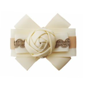 Taupe-cream Grosgrain Bow Brooch ACC_27_color_01_brooch_02