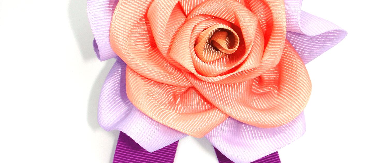 Flower Designer cloth Tie Brooch in Fuchsia ACC_33D_color_01_brooch_02 buy online www,axelles-fashion.com