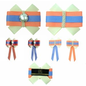 Striped tie bow, women accessories, ACC_11, Axelles-Fashion