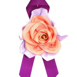 Flower cloth Tie-Brooch, Fuchsia, ACC_33D_color_01_brooch_02, Axelles-Fashion