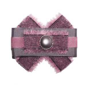 Frayed Bowknot Brooche, Gray-Dahlia, ACC_14_color_01_brooch_01, Axelles-Fashion