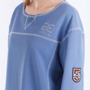 Oversize dress denim blauw, embroidered logo