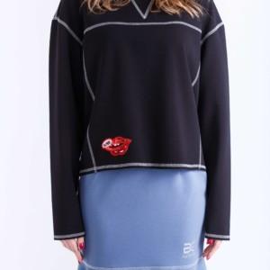 Sweater, pullover, sweatshirt, trui, zwart, blauw, online bestellen, article-B-2016-0010, #AxellesFashion