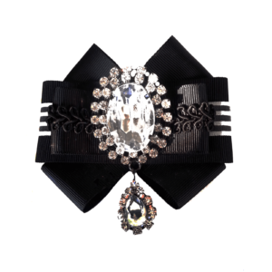 Black & White Bow Brooch with Extra Large chandelier detail ACC_07_color_01_brooch_03