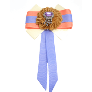 Designer cloth Tie Brooch in Lavender-Coral ACC_31A_color_01_brooch_02