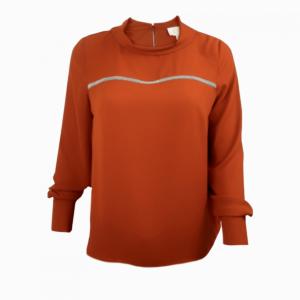 Casual cowl neck blouse buy online art B-2016-0042 brown emperador
