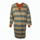 brown cowl neck blouse, oversize woolen striped coat buy exclusive online www.axelles-fashion.com