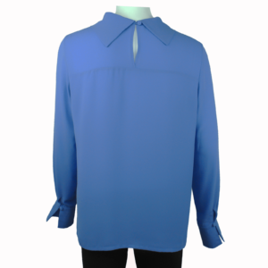 "Casual blouse with cowl neck in ""palace blue"" color buy online www.axelles-fashion.com"
