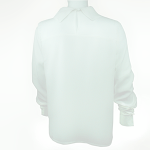 White blouse with cowl neck buy online www.axelles-fashion.com ref B-2016-0042 white