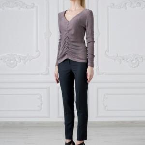Cotton-blend blouse met gesmokt detail, article-T-2017-0010, #Axelles.