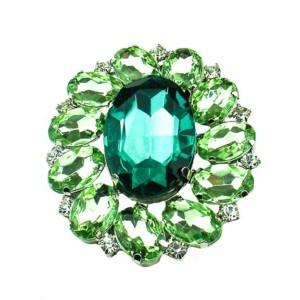 Ronde brooche groen, Axelles Fashion