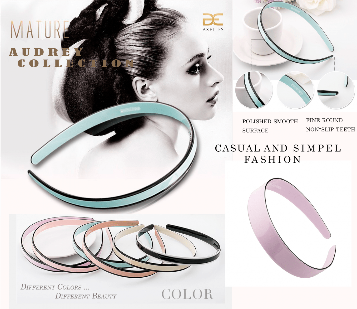 Charm Hairband / Headband Hairband luxury simple Audrey collection by Axelles