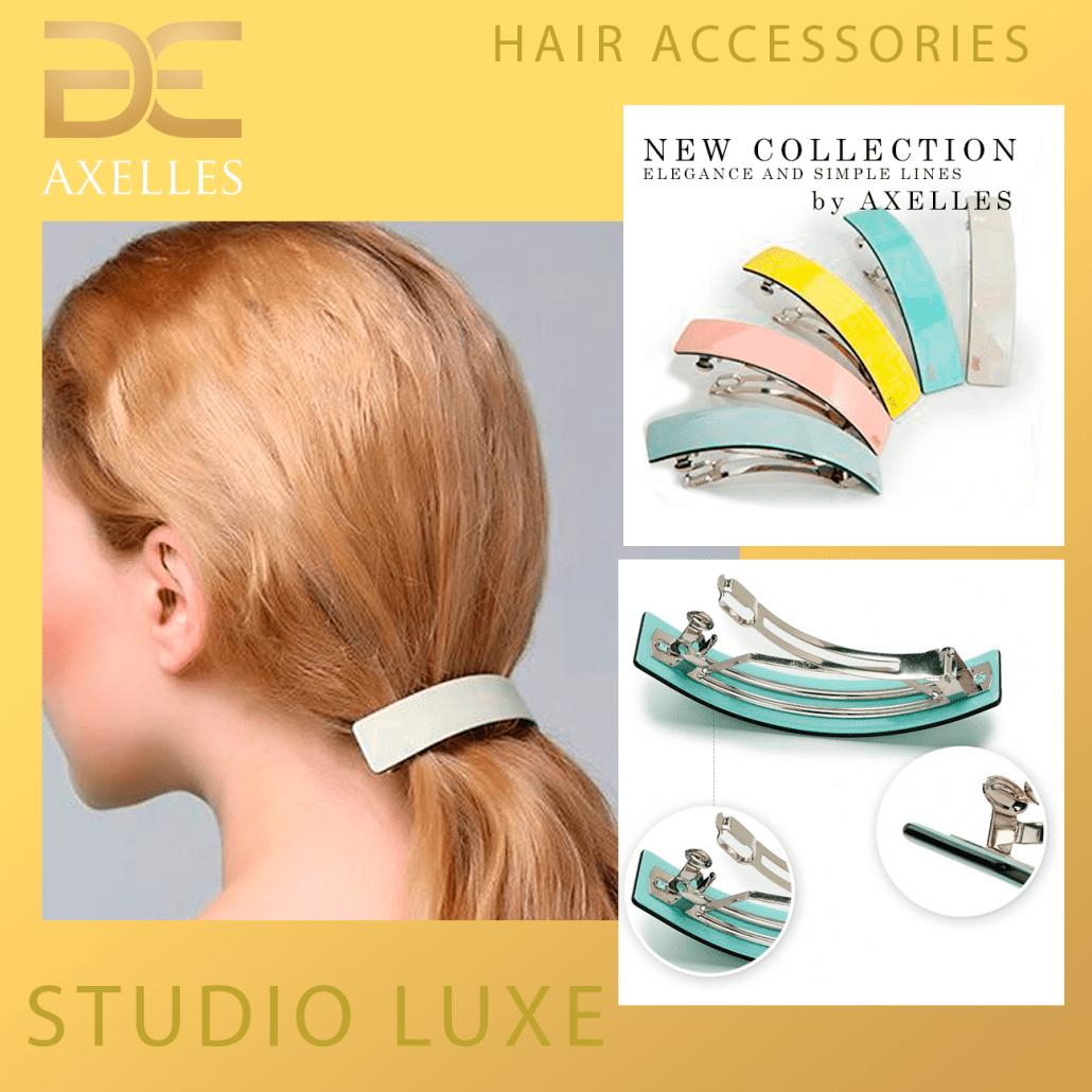 заколка на волосы класса люкс из био-материала, Oval Barrettes Handmade-Elegant-High Quality Celluloseby Axelles Fashion Accessories
