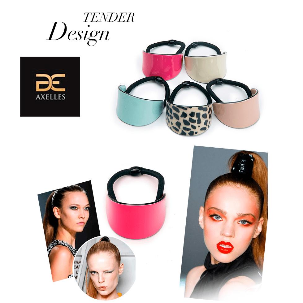 Elastic hair band multicolor minimalism 70th high quality Axelles Fashion