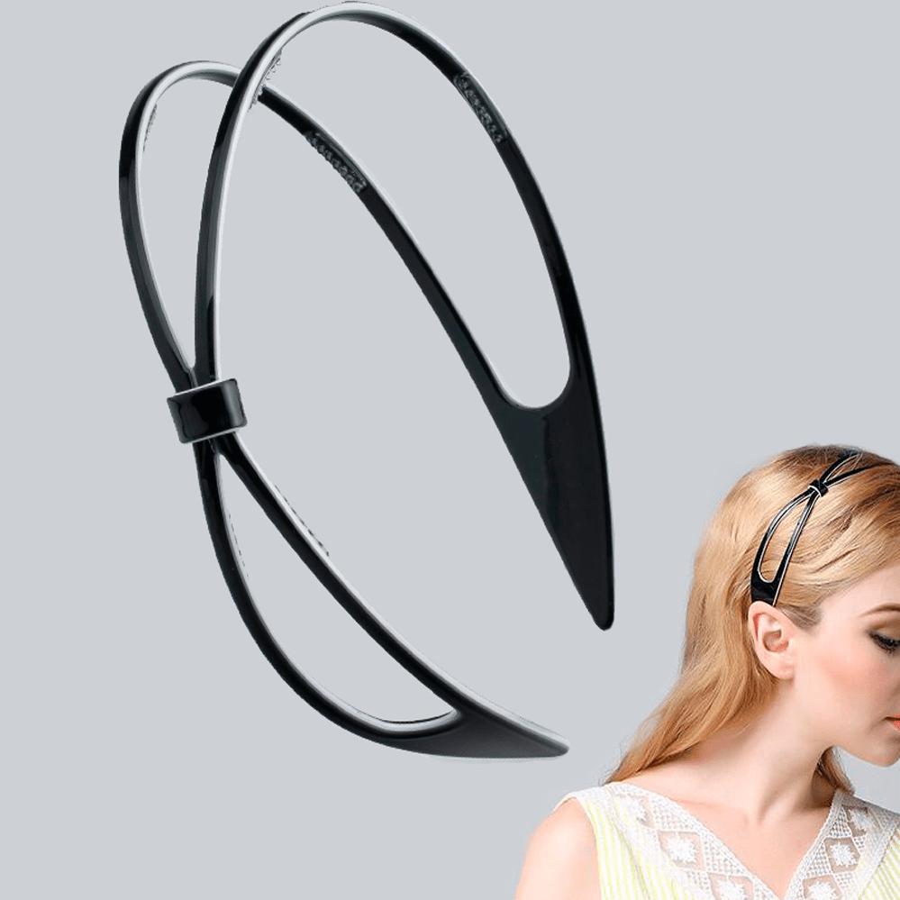 Luxury Hairband 2-lines, black, BIO-plastic, giftset.
