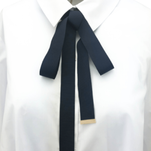 belt or tie collar shirt black color in best quality Japan trim by axelles