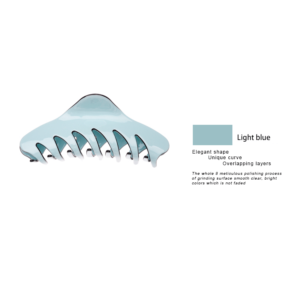 Hair claw 11.5 cm new-design high quality Cellulose by Axelles light blue