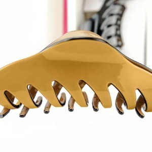 Classy hair claw (Large), Sierklem, coffee bruin in geschenkdoos, Axelles-Fashion