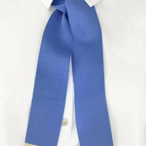 Shirt kraag lintje (brooche), collar bowknot, tie, trim, blue, Axelles-Fashion