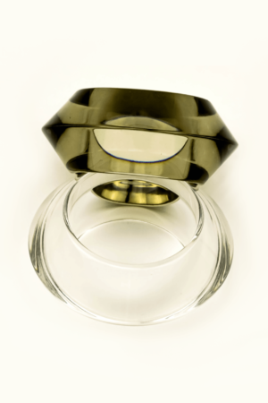 Transparent clear bracelet/bangle gray olive green color buy exclusive online www.axelles-fashion.com ref SM0101