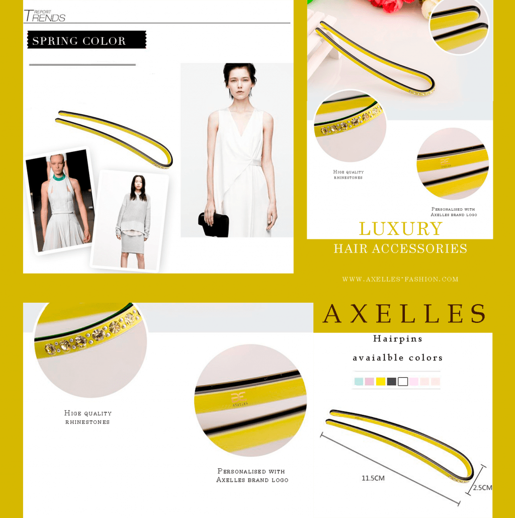 luxury hairpins accessories by Axelles