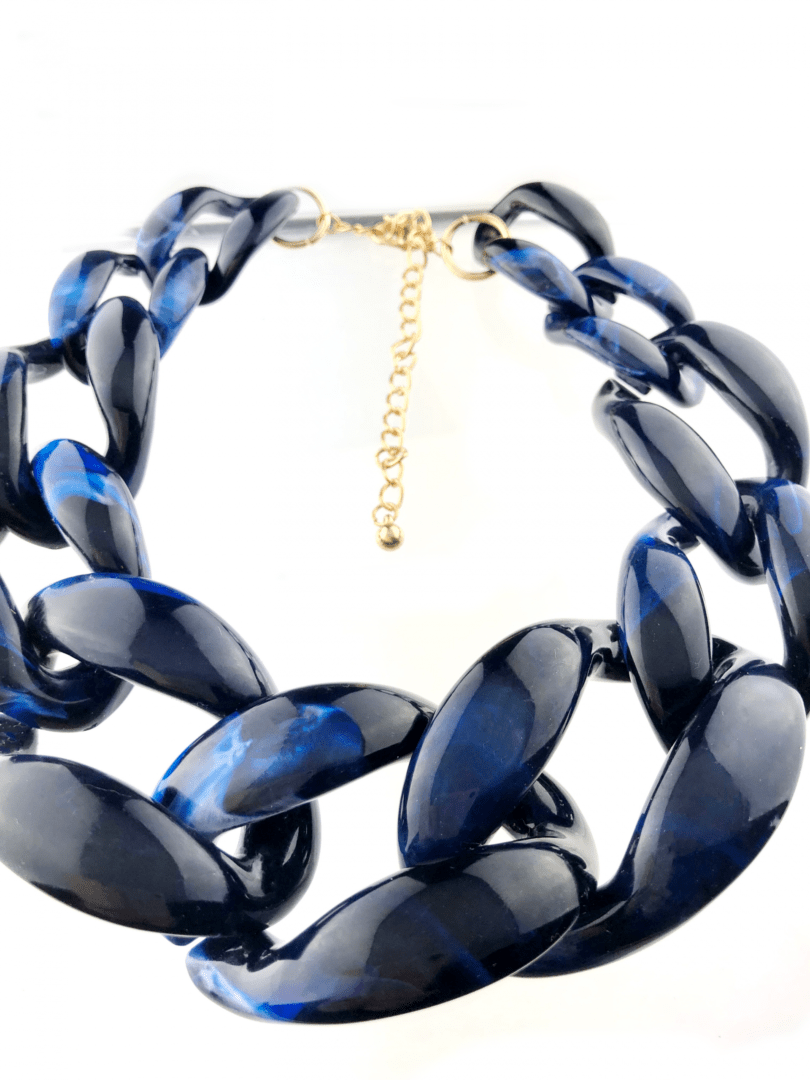 b0e98e731 Blue tiger print large chains necklace best quality jewelry buy online  www.axelles-fashion