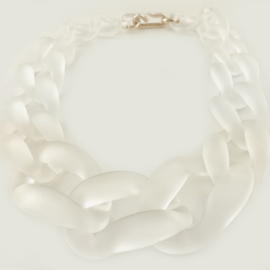 Transparent chain necklace acrylic large chains necklace buy exclusive www.axelles-fashion.com ref NK1013