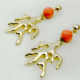 Large gold coral earrings, necklace, pendant, buy online, kopen, kupit, Axelles Fashion