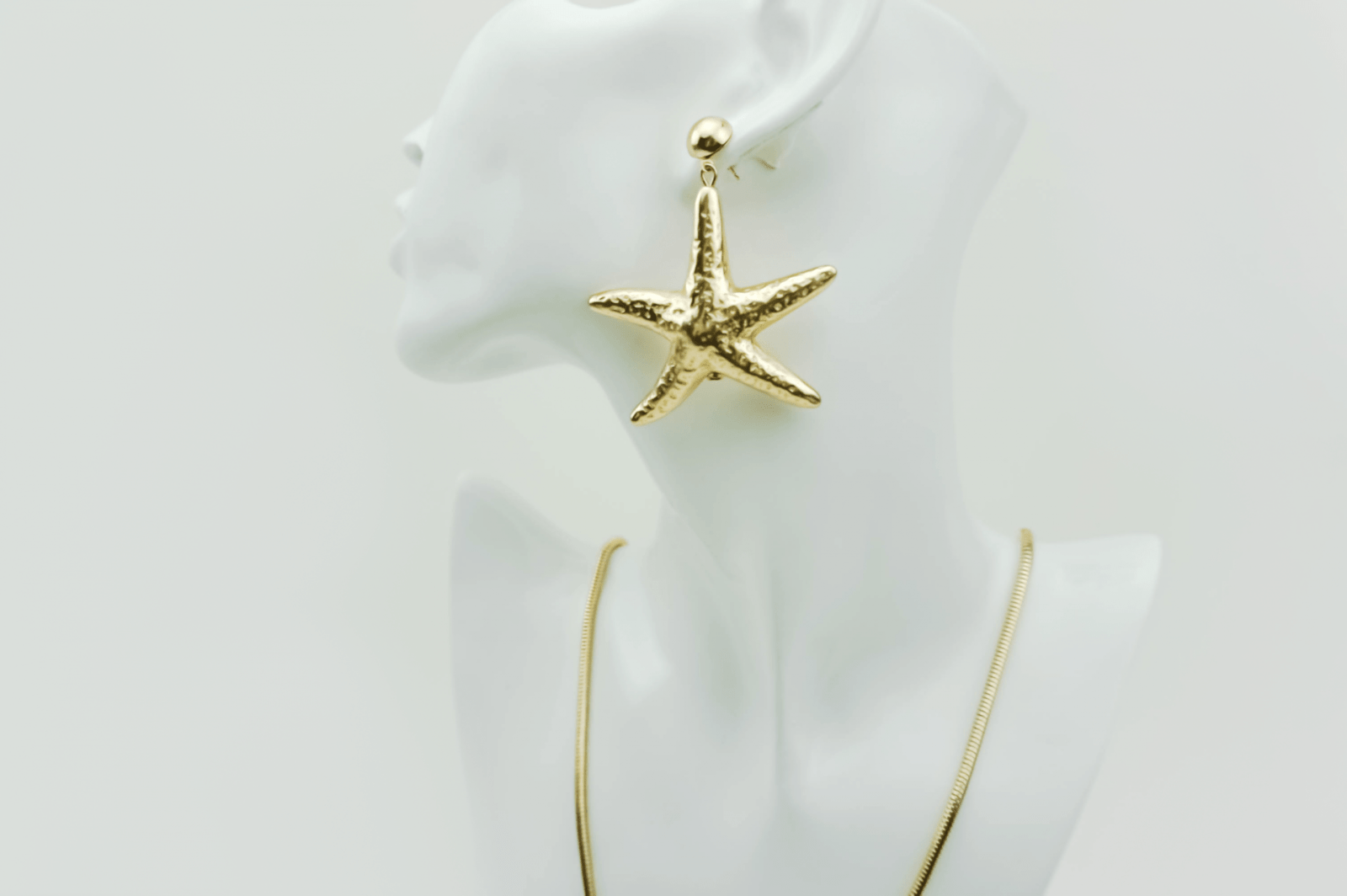 616fb5483 trendy Starfish earrings Ocean, necklace, set, gold plated, designer,  Axelles,