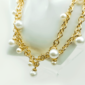 Classic chain necklace with pearls designer Axelles buy online kopen kupit