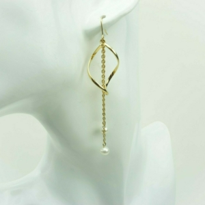 Trendy classic chains pearls earrings buy online kopen, kupit,www.axelles-fashion.com