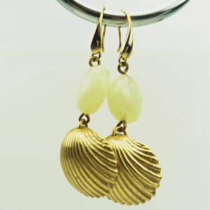 "Shell earrings ""Ocean""necklace set buy exclusive online kopen, kupit, www.axelles-fashion.com"