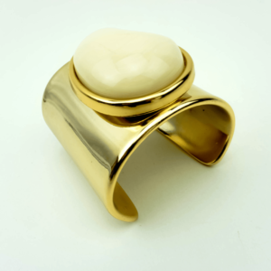 stylish cuff bracelet bangle natural components designed by Axelles ref 13-13908-Z-860A