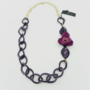 Stylish chain necklace with Camellia buy online kopen www.axelles-fashion.com