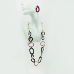 Stylish chain necklace, clips earrings, set, present, gift,buy online, kopen www.axelles-fashion.com
