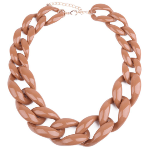 Acrylic chain necklace nude coral buy on www.axelles-fashion.com ref NK1011