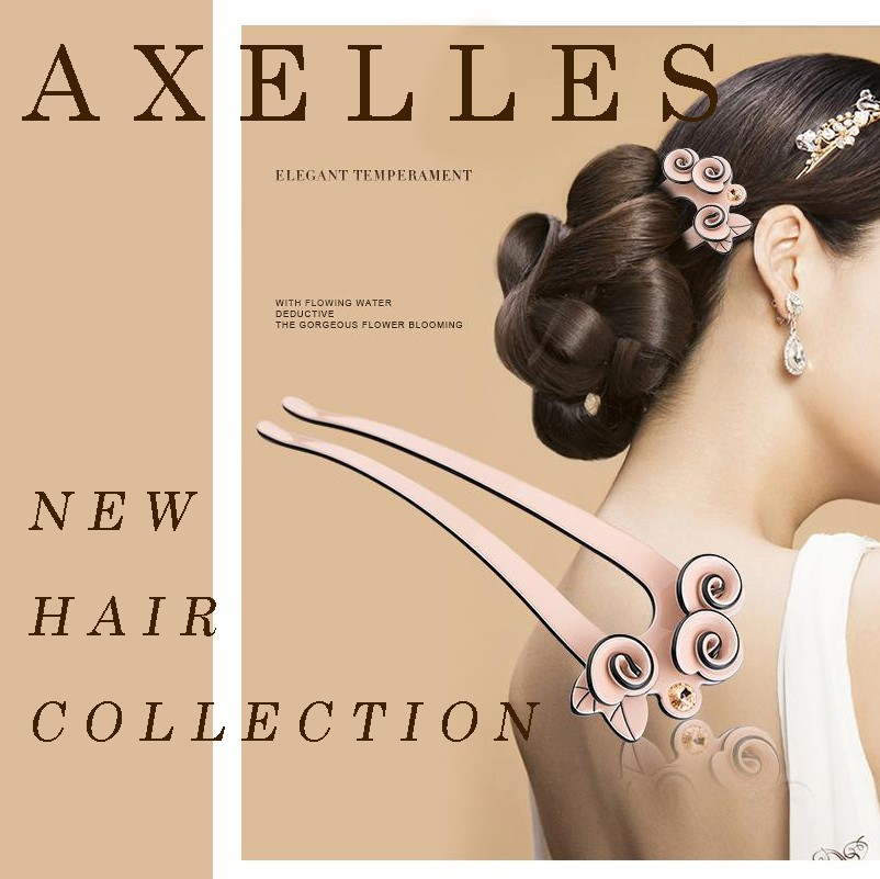 Luxury rhinestone hair forks exclusive by Axelles Fashion ref AF30051